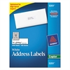 Copier Address Labels, 1 x 2 13/16, White, 3300/Box