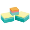 Post-it Original Cubes, One 2 x 2: 360-Sheet, Two 3 x 3: 400-Sheet, Emerald/Aqua Wave
