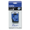 "Brother P-Touch TC Tape Cartridge for P-Touch Labelers, 3/8""w, White on Blue"