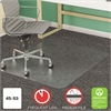 deflecto SuperMat Frequent Use Chair Mat, Medium Pile Carpet, Beveled, 45 x 53, Clear