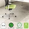 deflecto EnvironMat Recycled Anytime Use Chair Mat for Hard Floor, 36 x 48 w/Lip, Clear