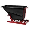 Self-Dumping Hopper, 1/2 Cubic Yard, 750 lb Capacity, Black/Red