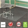 deflecto SuperMat Frequent Use Chair Mat, Medium Pile Carpet, Beveled, 46 x 60, Clear
