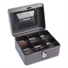 "FireKing Hercules Cash Box, Keylock, Coin and Stamp, 6"" x 4 5/8"" x 3"", Charcoal Gray"