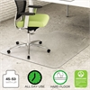 deflecto EnvironMat Recycled Anytime Use Chair Mat for Hard Floor, 45 x 53 w/Lip, Clear