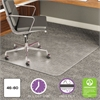 deflecto ExecuMat Intense All Day Use Chair Mat for High Pile Carpet, 46 x 60, Clear