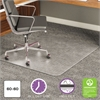 deflecto ExecuMat Intense All Day Use Chair Mat for High Pile Carpet, 60 x 60, Clear