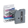 "Brother P-Touch TX Tape Cartridge for PT-8000, PT-PC, PT-30/35, 1/2""w, Black on Clear"