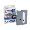 "Brother P-Touch TX Tape Cartridge for PT-8000, PT-PC, PT-30/35, 1/2""w, White on Clear"