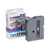 "Brother P-Touch TX Tape Cartridge for PT-8000, PT-PC, PT-30/35, 1""w, Black on Clear"