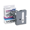"Brother P-Touch TX Tape Cartridge for PT-8000, PT-PC, PT-30/35, 1""w, White on Clear"