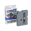 "Brother P-Touch TX Tape Cartridge for PT-8000, PT-PC, PT-30/35, 1/4""w, Black on White"