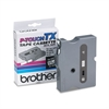 "Brother P-Touch TX Tape Cartridge for PT-8000, PT-PC, PT-30/35, 3/8""w, Black on White"