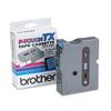 "Brother P-Touch TX Tape Cartridge for PT-8000, PT-PC, PT-30/35, 1""w, Black on Blue"
