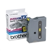 "Brother P-Touch TX Tape Cartridge for PT-8000, PT-PC, PT-30/35, 1""w, Black on Yellow"