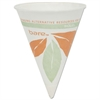 SOLO Cup Company Bare Eco-Forward Paper Cone Water Cups, 4oz, White, 200/Pack, 25 Packs/Carton