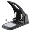 "Swingline 100-Sheet Extra Heavy-Duty Two-Hole Punch, 9/32"" Holes, Black/Gray"