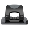 "Swingline 20-Sheet SmartTouch Two-Hole Punch, 9/32"" Holes, Black/Gray"