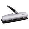 "20-Sheet LightTouch Desktop Two-to-Seven-Hole Punch, 9/32"" Holes, Silver/Black"
