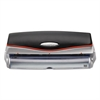"Swingline 20-Sheet Optima Electric/Battery Three-Hole Punch, 9/32"" Holes, Silver/Black"