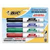 BIC Great Erase Grip Chisel Tip Dry Erase Marker, Assorted, 4/Set