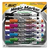 BIC Low Odor and Bold Writing Pen Style Dry Erase Marker, Bullet Tip, Assorted, 12