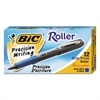 BIC Grip Stick Roller Ball Pen, Blue Ink, .5mm, Micro Fine, Dozen