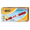 BIC Great Erase Grip Fine Point Dry Erase Marker, Red, Dozen