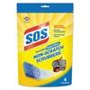Non-Scratch Soap Scrubbers, Blue, 4/Pack, 6 Packs/Carton