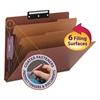 Smead Pressboard Classification Folders, Metal Tab, Letter, Six-Section, Red, 10/Box