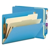 Smead Colored End Tab Classification Folders, Letter, Six-Section, Blue, 10/Box