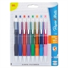 Roller Ball Stick Gel Pen, Assorted Ink, Medium, 8/Pack