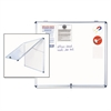 Slim-Line Enclosed Dry Erase Board, 47 x 38, Aluminum Case