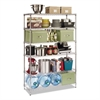Alera Commercial Wire Shelving, Six-Shelf, 48w x 18d x 72h, Silver