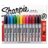 Sharpie Permanent Marker, Brush Tip, Assorted, 12/Set