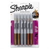 Sharpie Metallic Permanent Markers, Assorted, 6/Pack