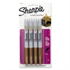 Metallic Permanent Markers, Gold, 4/Pack