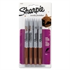 Sharpie Metallic Permanent Markers, Bronze, 4/Pack