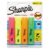 Sharpie Blade Tip Highlighter, Assorted, 4/Pack