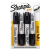 Sharpie King Size Permanent Markers, Black, 4/Pack