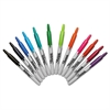 Retractable Permanent Markers, Fine Point, Asstd., 12/Set