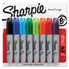 Sharpie Permanent Marker, 5.3mm Chisel Tip, Assorted, 8/Set