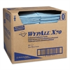 WypAll* X70 Foodservice Towels, 1/4-Fold, 12 1/2 x 23 1/2, Blue, 300/Carton