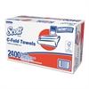 Scott C-Fold Paper Towels, 13 1/5 x 10 1/10, White, 150/Pack, 16 Packs/Carton