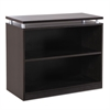 Sedina Series Bookcase, Two-Shelf, 36w x 15d x 30h, Espresso