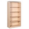 Alera Alera Sedina Series Bookcase, Five-Shelf, 36w x 15d x 72h, Maple