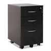 Sedina Series Mobile Box/Box/File Ped,15 3/8w x 20d x 26 5/8h,Espresso