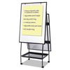 MasterVision Creation Station Dry Erase Board, 29 1/2 x 74 7/8, Black Frame