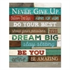 "Motivational Poster, 16 x 20, ""Never Give Up"", Dark Walnut"