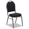 Banquet Chairs with Dome Back, Black/Silver, 4/Carton